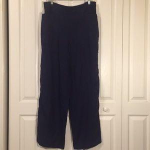 FLAX navy blue linen pants Sz Large